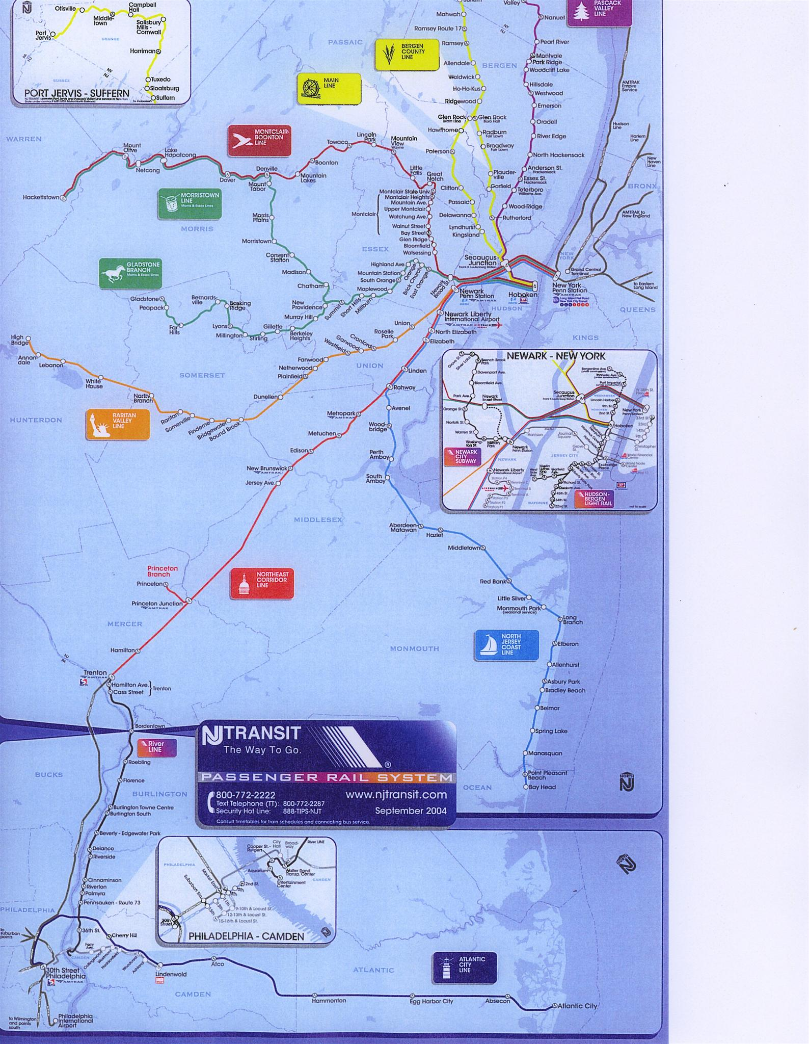 Item 2 The Only Commuter Route Map Available In Manhattan S Penn Station Covering Trains Traveling